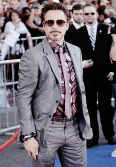 A little RDJ swag (at the Captain America: The First Avenger premiere in L.A.)