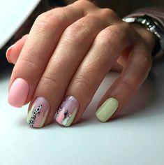 Abstract nail art Beach nails Beautiful nails to the sea Light summer nails Nails trends 2020 Original nails Pink and lime green nails Stylish nails Nail Art Design Gallery, Best Nail Art Designs, Short Nail Designs, Dream Nails, Love Nails, Fun Nails, Color Nails, Stylish Nails, Trendy Nails