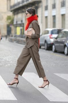 Parisian Street Style: at Paris Fashion Week - Flare