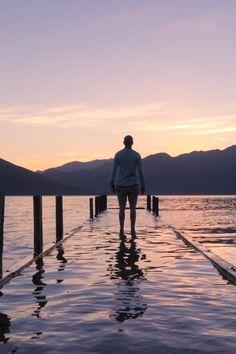 Free stock photo of sea, dawn, landscape, mountains