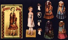 "McLoughlin Bros. ""Jennie June"" paper doll"
