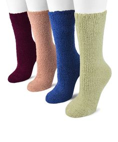 Another great find on #zulily! Green Micro-Chenille Socks Set by MUK LUKS #zulilyfinds