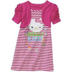 Hello Kitty Baby Girls' 2fer Shrug Dress :) I love the lil shrug :) So adorable