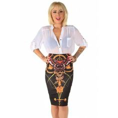 Mayan Temple Skirt ❤ Black - Dresses & Skirts