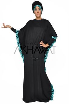 The Angelic butterfly is a modest fashion abaya ideal for everyday use with subtle detail on suptuously soft fabric. The abaya is made in a butterfly style with square draping sleeves and with a drawstring waist and matching shayla. Abaya Fashion, Modest Fashion, Butterfly Abaya, Black Square, Drawstring Waist, Soft Fabrics, Hijab Ideas, Cold Shoulder Dress, Angel