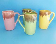 Jaska Of California Tall Drip Mugs 1950s