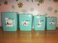 vintage canister set by soleilshine on Etsy, $39.00