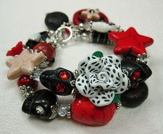 Black / Red / White Combo Day of the Dead by CayaCowgirlCreations, $35.00
