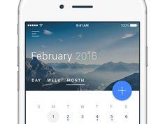 Calendar View — Material Design #FREEBIE
