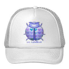 """Lilac 3D """"Lil LuvBug"""" w/Hearts Hat"""