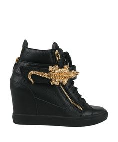 Giuseppe Zanotti High-top sneakers with gator detail | Lindelepalais.com 22863