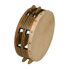 """Riq, 8"""" (Package Of 3) by Mid-East. $154.49. Riq, 8 Inch (Item Code: RQP08) The riq is used as a traditional instrument in Arabic music. It is important in both folk and classical music and riq players are capable of great subtlety and virtuosity.The frame on this riq is covered inside and out with inlay and it has 8 pairs of small cymbals which are about 4 or 41/2 cm in diameter in 2 rows around the frame. The goat skin is glued on and tightened over the frame and is about 2..."""