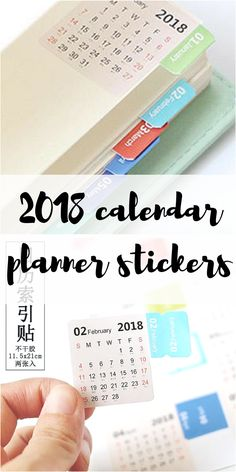 These are a great idea! Stickers with a monthly calendar to stick in your planner. I love how the edge works as a little page divider. Thinking of getting these for my bujo. Although would also be really useful for my work notebook because I get through so many pages. I wonder if they come in other colors? would love some pink ones to match my journal! #ad #planner #bujo #bulletjournal #planner #stickers #organization #agenda #diary #2018