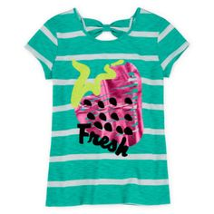 Total Girl® Short-Sleeve Bow-Back Tee - Girls 7-16 and Plus  found at @JCPenney