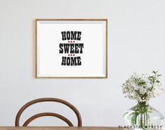 Home Sweet Home Quote Kitchen Decor Home Decor by BlackstarPress