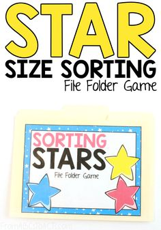 Practice those early math concepts like sorting, sizes, and shapes with your toddler and this colorful size sorting file folder game! File Folder Activities, Math Activities For Kids, File Folder Games, Games For Toddlers, File Folders, Science Ideas, Educational Activities, Space Theme Preschool, Preschool Special Education