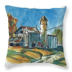 Want to buy this pillow? Click on the title or follow this link:  https://fineartamerica.com/featured/rustic-barn-ali-baucom.html?product=throw-pillow