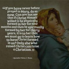 The Momma. Wow...something for me to meditate on. Venerable Archbishop Fulton J. Sheen