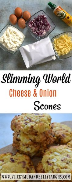 Slimming World Cheese and Onion Scones Who said diets had to be boring? Check out these delicious Slimming World Cheese and Onion Scones. Syn free as H/E Slimming World Muffins, Baked Oats Slimming World, Slimming World Vegetarian Recipes, Slimming World Puddings, Slimming World Cake, Slimming World Desserts, Slimming World Dinners, Slimming World Recipes Syn Free, Slimming Eats