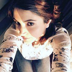 Anushka Sharma posting a #Selfie on Instagram. #Bollywood #Fashion #Style #Beauty