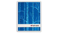 Cardmaking video tutorial: Sentiment Strips and  Painted Embossing ... from Understand Blue ... fab tips to enhance embossing folder ... work of art!