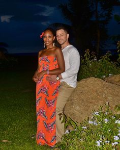Gorgeous interracial couple on vacation in Montego Bay, Jamaica #love #wmbw #bwwm #swirl