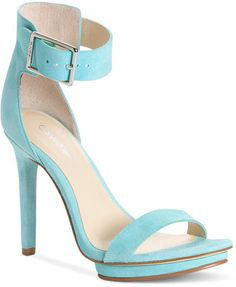 790b94944fe Calvin Klein Women s Shoes Vivian High Heel Sandals Calvin Klein Bow Shoes