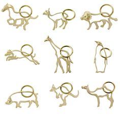 Brass Animal Keychains