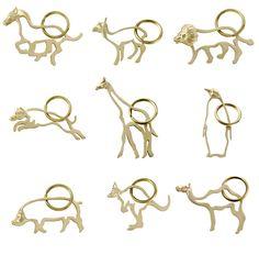 Brass Animal Keychains