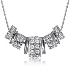 Another great find on #zulily! Silver Luxe Necklace Made With SWAROVSKI ELEMENTS #zulilyfinds