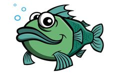Cartoon fish character | by Coghill Cartooning
