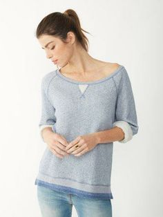 Slightly structured for an elevated pullover look all your own.