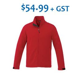 September Promotion, $54.99, Minimum 12 pieces. Maxson Softchell Jacket. 100% Polyester mechanical stretch woven bonded to 100% Polyester anti-pill microfleece with waterproof, breathable membrane and water repellent finish. 270 g/m2 (8 oz/yd2). Insulation is added between the inside and outside of fabric of the garments for warmth. Articulated Elbows. Ergonomic Sleeves. Tax, setup and artwork fees apply. Offer ends September 30, 2015. Softshell, Insulation, Promotion, September, Water, Fabric, Artwork, Sleeves, Jackets
