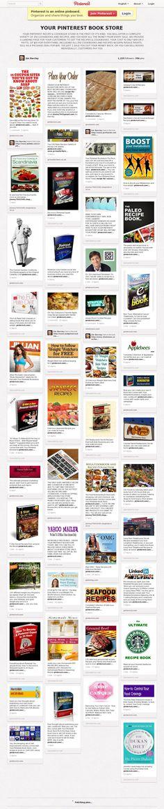 The Pinterest Book Store website