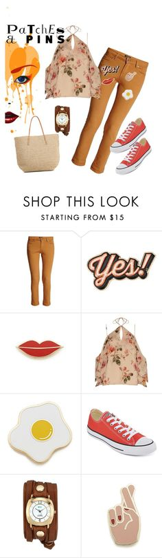 """On Pins & Needles!"" by two-faced-honey ❤ liked on Polyvore featuring Morgan, Anya Hindmarch, Georgia Perry, Exclusive for Intermix, Converse, La Mer, Target and patchesandpins"