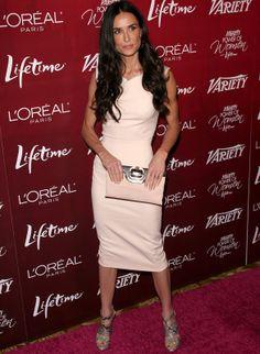 Demi Moore Hair, Demi Love, Daniela Ruah, Courtney Cox, L'oréal Paris, Iconic Women, Aging Gracefully, Fashion Over, Brunettes