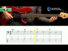 Ex003~P Beginner Bass Guitar Lessons ~ Progressive ~ Picked
