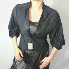 Day Birger et Mikkelsen Size 38 UK 10 Black Wool Kimono Jacket Evening Cropped #DAYBirgeretMikkelsen #Kimono #PartyCocktail Size 10, Fashion, Moda, Fashion Styles, Fashion Illustrations, Fashion Models