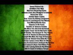 Amhrán na bhFiann in Irish Gaelic with the WORDS - YouTube
