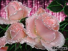 "Blingee Graphics Roses Glitter | This ""roses glitter"" picture was created using the Blingee free online ..."