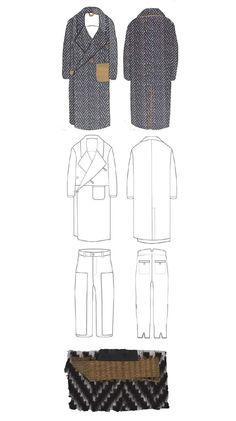 Fashion Sketchbook layout - fashion drawings & fabrics; fashion portfolio // Lori Stayte
