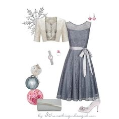 Christmas Party Outfit for Light Summers by thirtysomethingurbangirl on Polyvore featuring Kaliko, Gina Bacconi, Nina, Accessorize, Pulsar, Pandora, Trollbeads and John Lewis