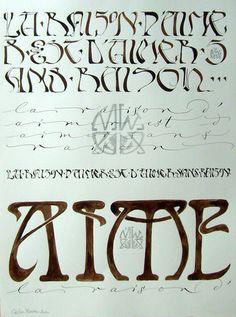 Lovely, voluptuous art deco style lettering