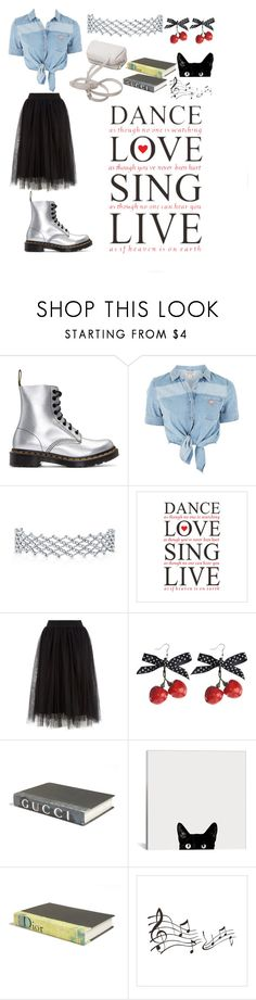 """Crazy"" by thatimr ❤ liked on Polyvore featuring Dr. Martens, GUESS and E. Lawrence, Ltd."