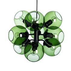 Tage 50 taklampe, sort/grønn i gruppen Belysning / Lamper / Taklamper hos ROOM21.no (1027432)