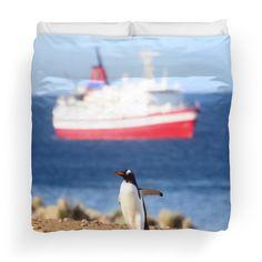 'penguin' Duvet Cover by umumar Framed Prints, Canvas Prints, Art Prints, Penguin S, Iphone Wallet, Travel Mug, Art Boards, Duvet Covers, Throw Pillows