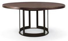 """Dining - 64"""" Round Dining Table with Open Metal Base. $3420 ruanzhuang zhuozi yuanxing xiandaifengge"""