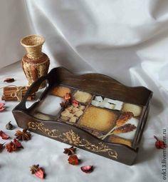 """""""Сладенький"""" поднос для кухни и не только - коричневый,поднос деревянный"""