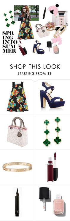 """""""Secret garden"""" by maria-chamourlidou ❤ liked on Polyvore featuring Victoria, Victoria Beckham, Paul Andrew, Christian Dior, Cartier, MAC Cosmetics and Chanel"""