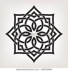 Circular pattern in arabesque style. Eight pointed star., Circular pattern in arabesque style. Eight pointed star. Circular pattern in arabesque style. Eight pointed star. Islamic Art Pattern, Pattern Art, Stencil Art, Stencil Designs, Mandala Design, Motifs Islamiques, Motif Arabesque, Motif Oriental, Geometry Pattern